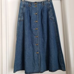 Vintage Alfred Dunner Maxi Jean Skirt